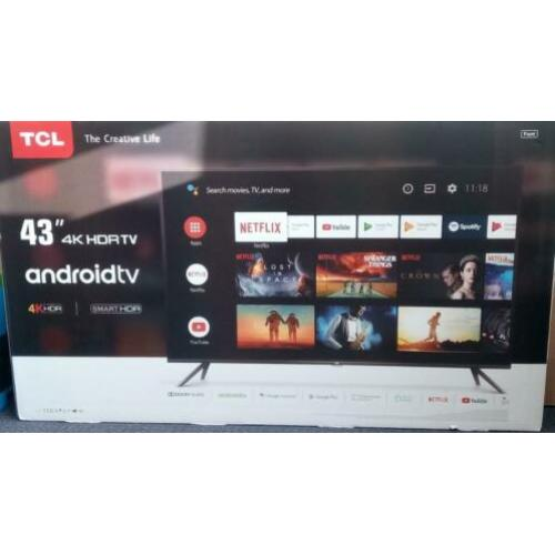 4K UHD TV TCL 43EP644 Android 9.0 Smart