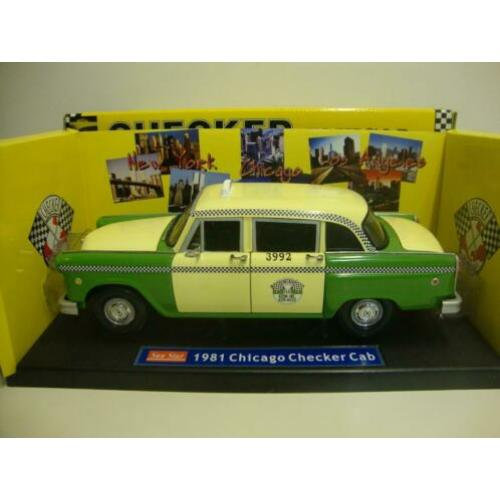 Checker Cab Chicago groen 1981 Sun Star 1:18 KRD