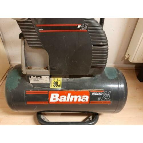 Balma Pegaso Compressor 260L/min., 24ltr. buffertank, 220V